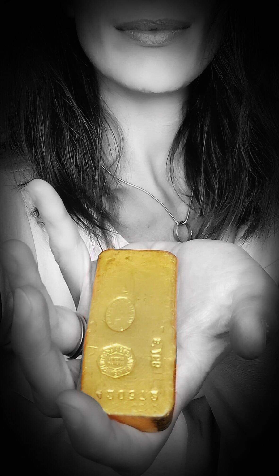 Ancien lingot d'or